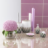 Bathroom accessories by PRIMANOVA  set HENRY (gray).
