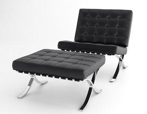 3D barcelona armchair