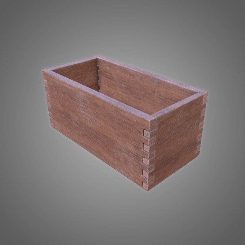 wooden box - pbr 3D model