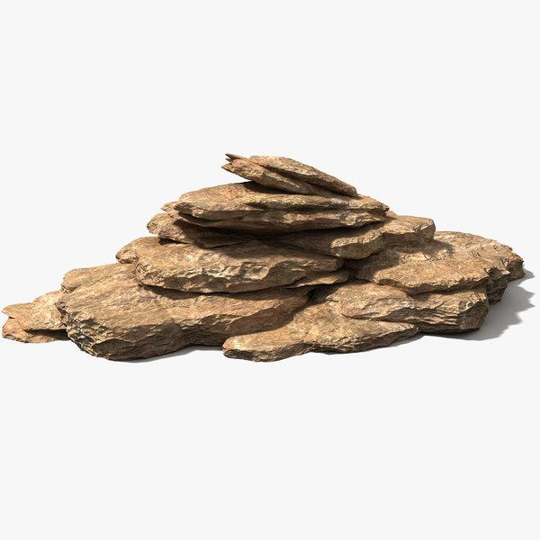 rock pile sandstone limestone 3D model