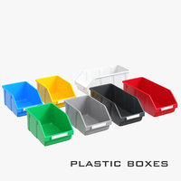 Colored plastic box for parts