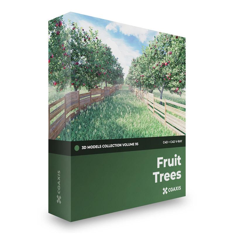 3D fruit trees volume 95 model