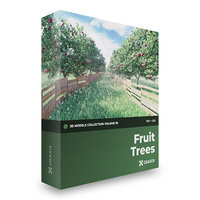 Fruit Trees 3D Models Collection  Volume 95 FBX OBJ