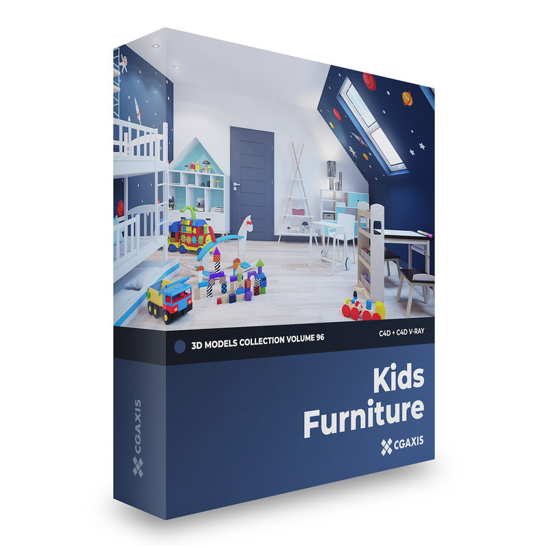 Kids Furniture Volume 48 48D Model TurboSquid 12697485 Impressive Ids Furniture Model