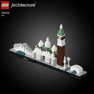 3D architectural venice lego