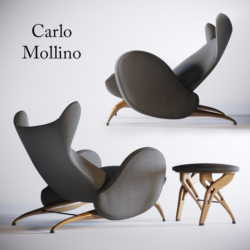 3D chair carlo mollino model