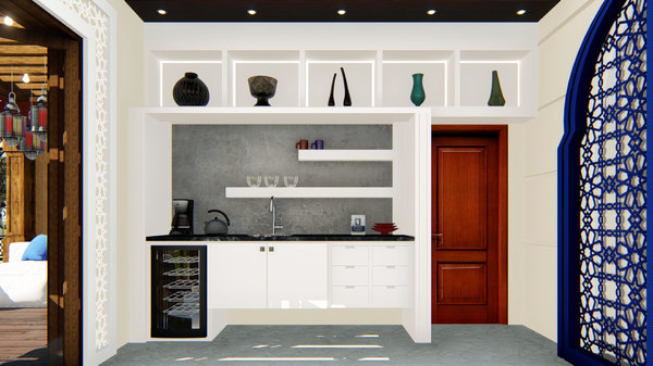 3D kitchen closet counter model