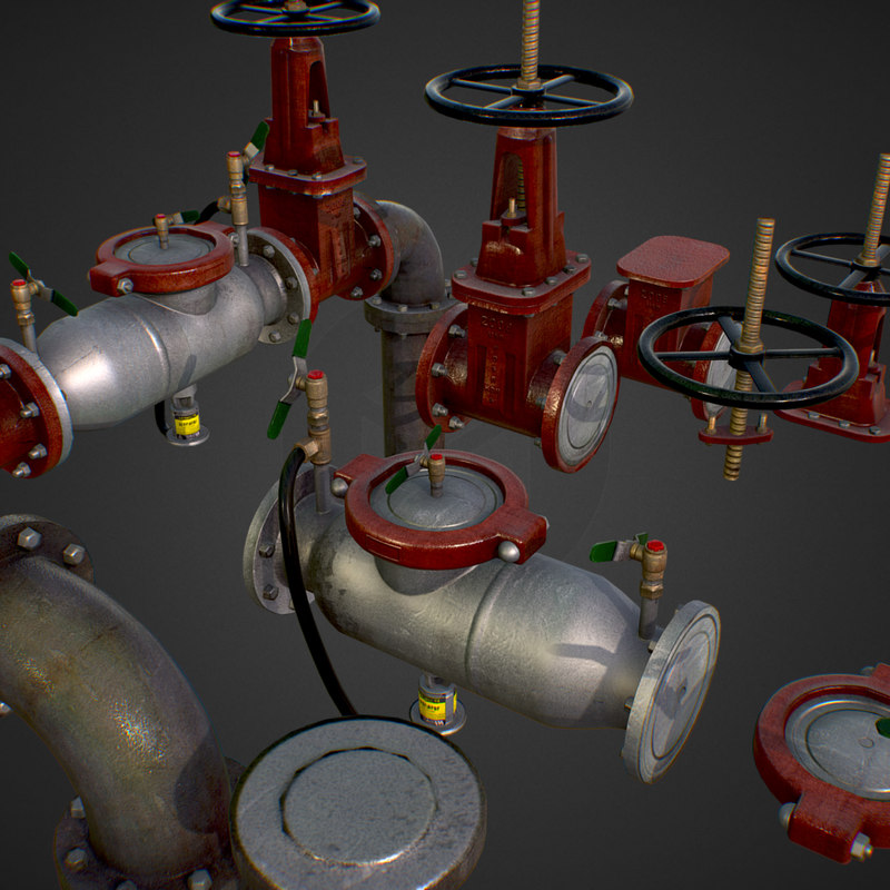3D constructor water pipes backflow