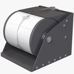 3D seismograph instrument model