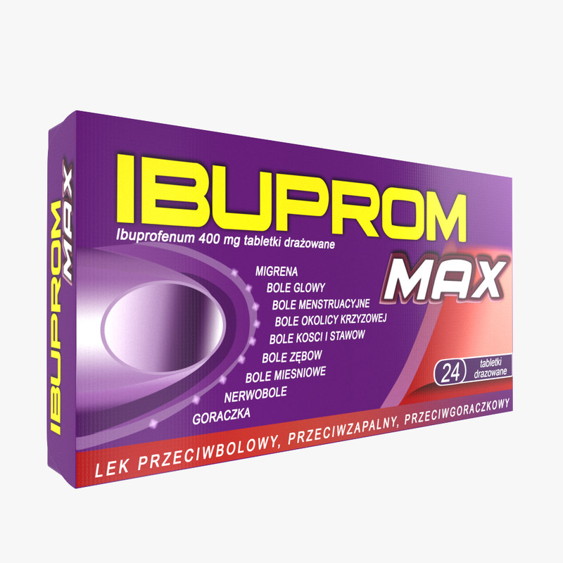 3D ibuprom medicine drug model