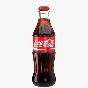 coca cola glass bottle model