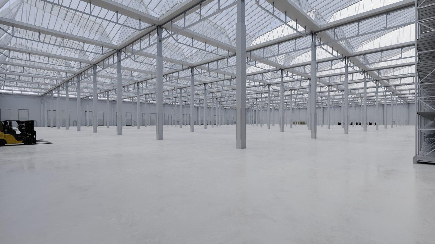 3D industrial building interior 4 model