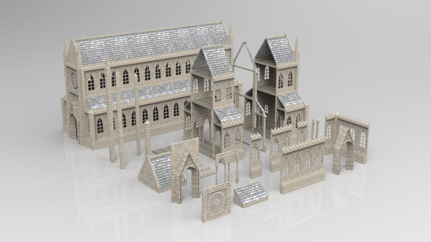 medieval kitbash 3D model