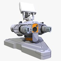 Sci-Fi Ground Laser Turret