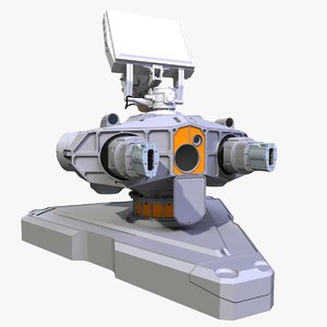 ground laser turret 3D model