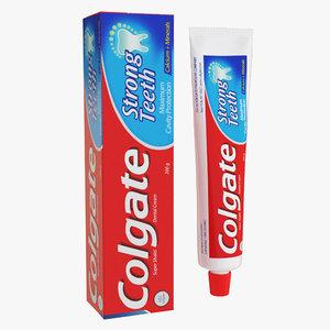 3D model colgate toothpaste