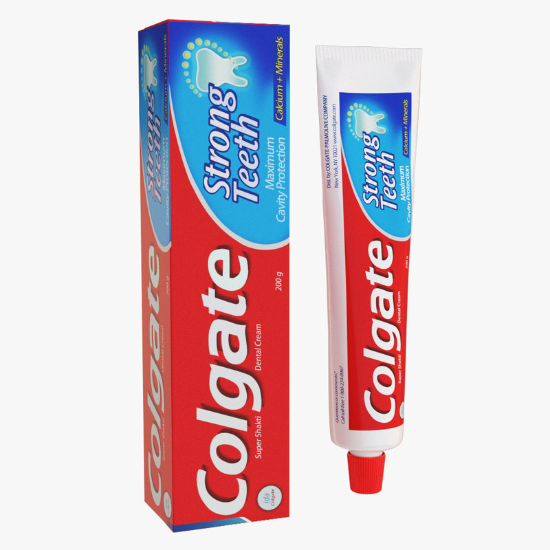3D model colgate toothpaste