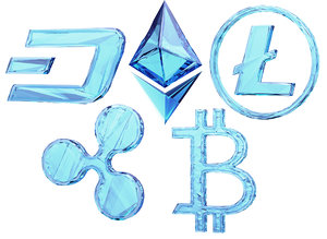 currency logos 3D