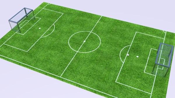 soccer toon field 3D model