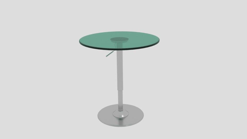 3D model otto adjustable bar table