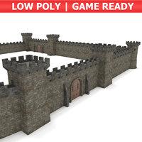 3D castle modular pack - model