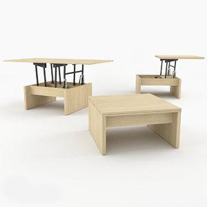 coffee table bari zegen 3D