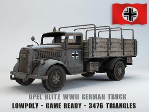 opel blitz truck 3D model