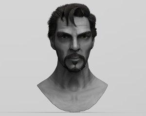 benedict cumberbatch head 3D model