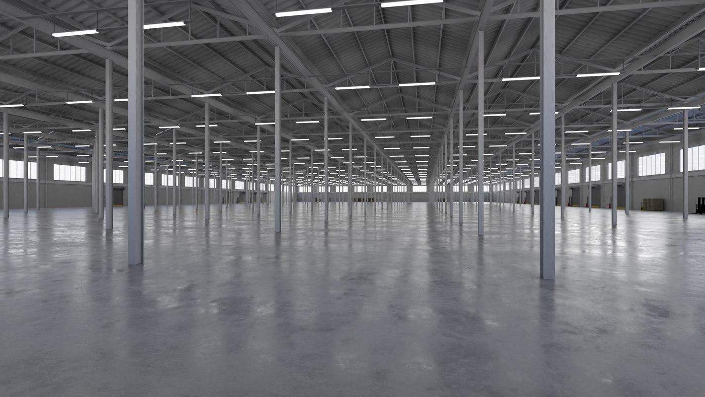 3D model industrial building interior 5b
