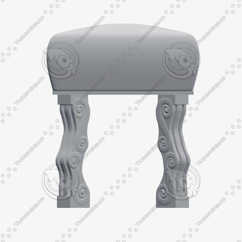 3D stool legs