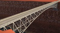 3D old steel bridge model