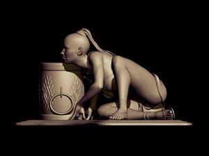 3D art women