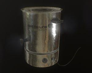 3D model waterboiler boiler water