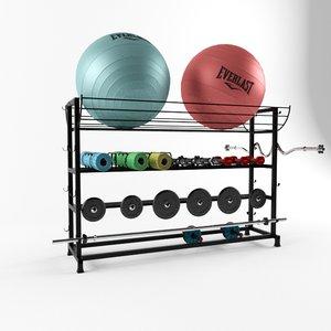 gym rack 3D model