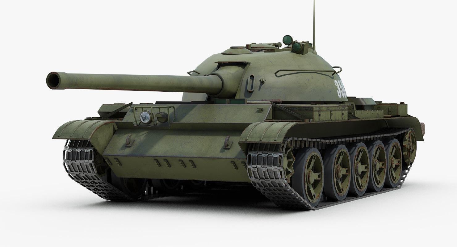 3D model war russian tank