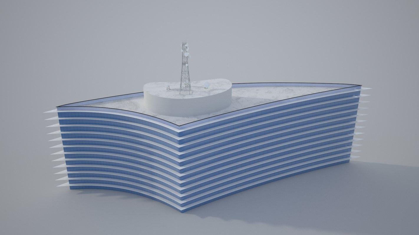 3D realistic radio station architecture