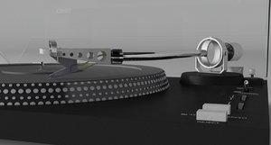 3D model vintage vinyl record player