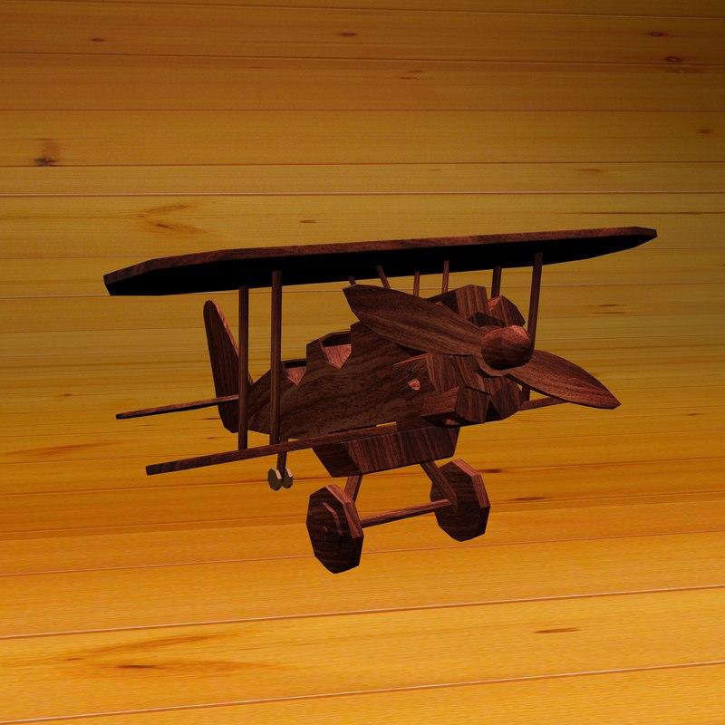 3D wood plane model