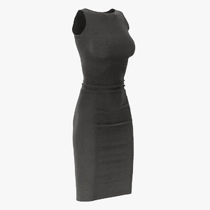 3D black dress model