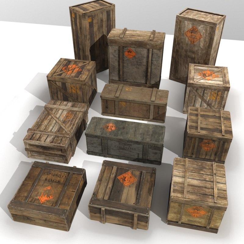 crates explosive 3D model