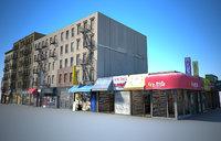3D new york buildings east model
