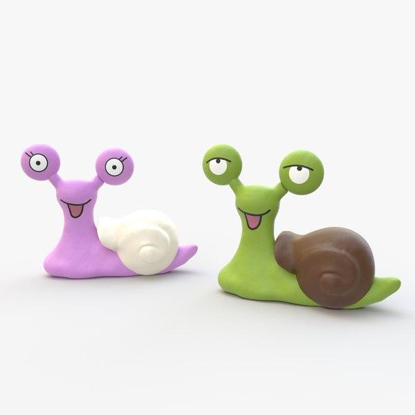 3D model little snails