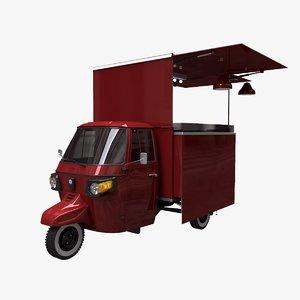 3D ape classic food truck