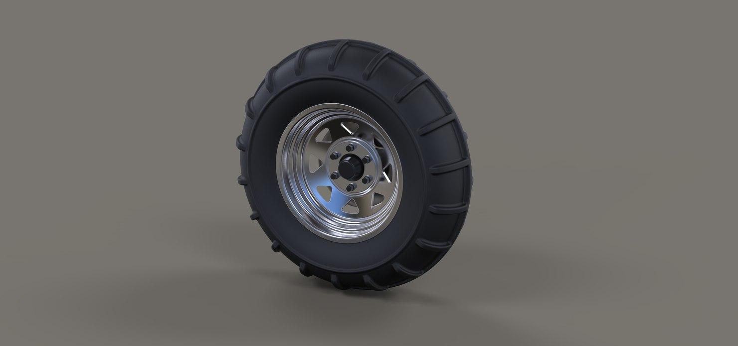 wheel drag dragster 3D model