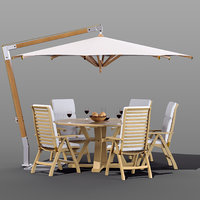 3D set garden furniture brafab