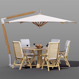 3D set garden furniture brafab