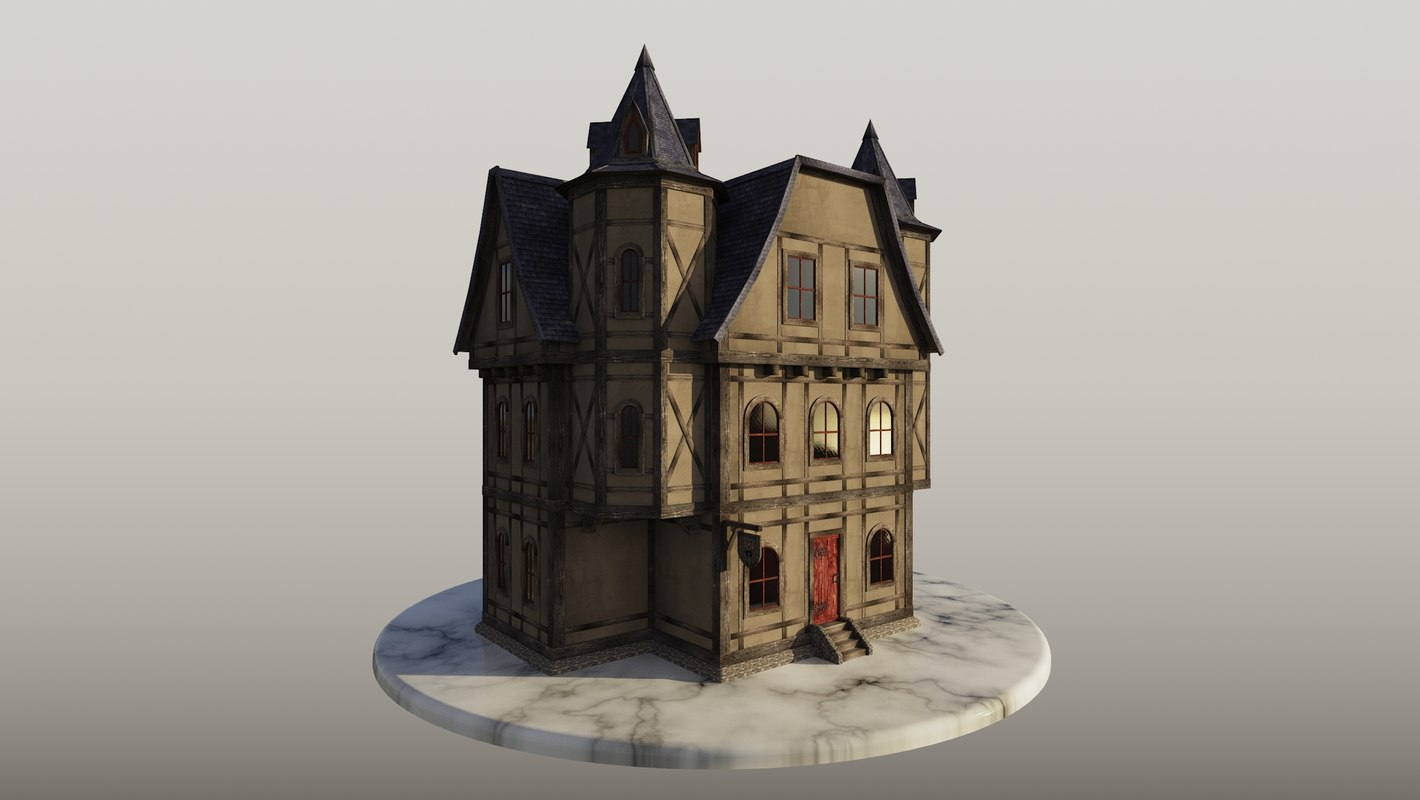 medieval inn 3D