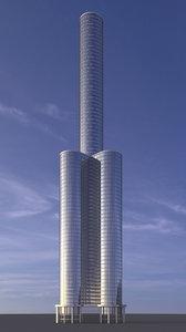 skyscraper 02 3D model