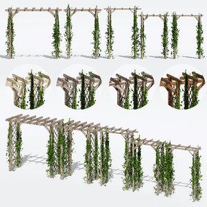 3D garden arches model