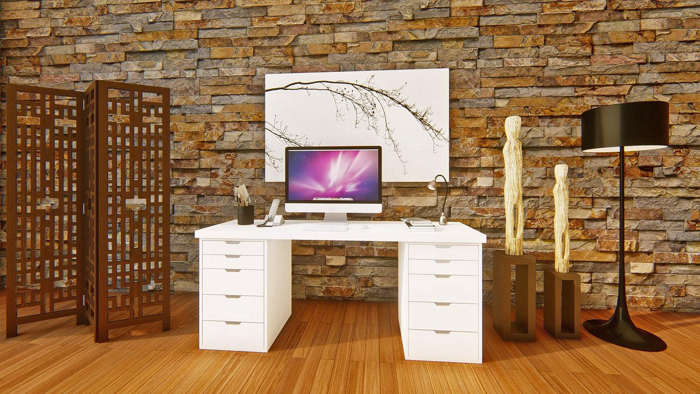 3D ikea office desk